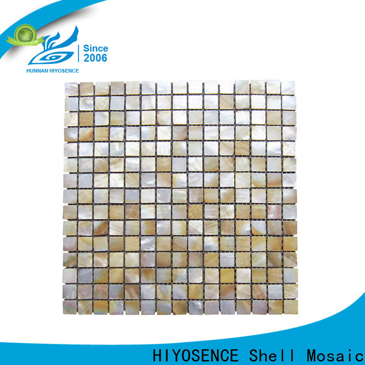 HIYOSENCE white mother of pearl tile factory price for hotel