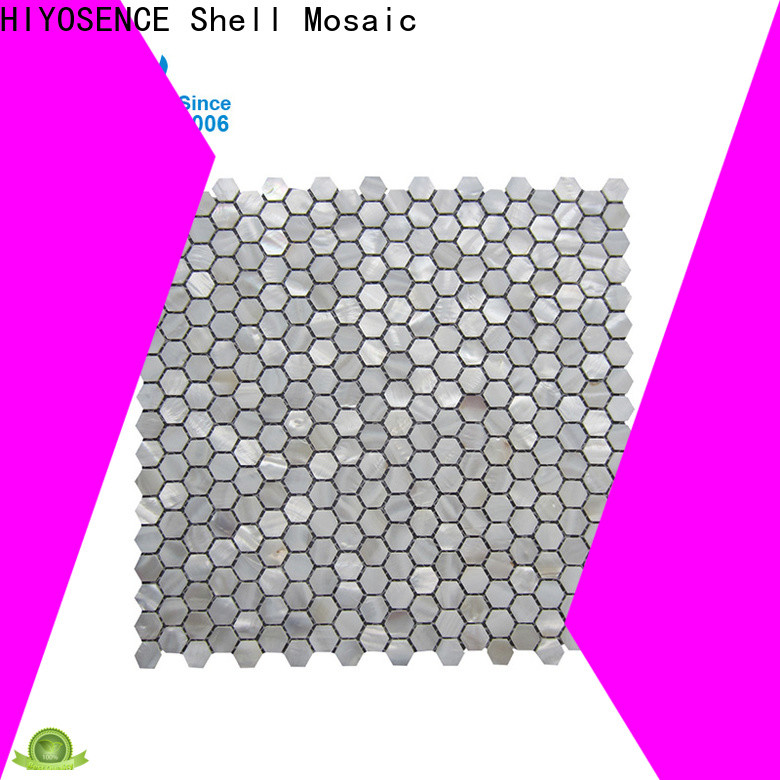 HIYOSENCE high quality seashell tile marketing for swimming pool