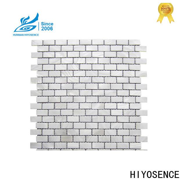 HIYOSENCE white hexagon tile overseas market for living room