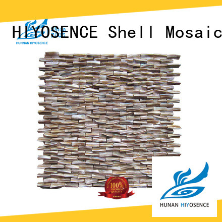 HIYOSENCE pearl glass mosaic tile overseas market for toilet