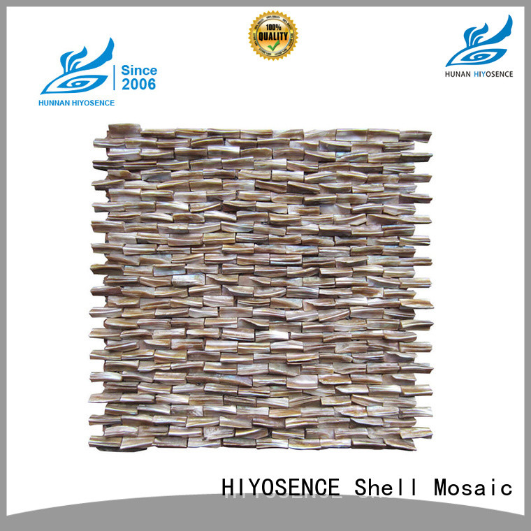 HIYOSENCE stable quality shell mosaic without joint factory price for decoration