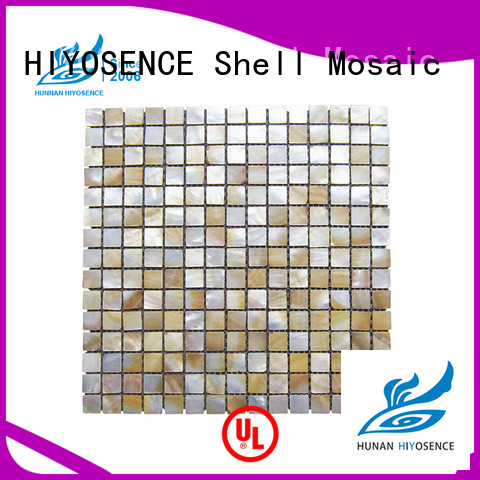 HIYOSENCE white mother of pearl tile factory price for living room