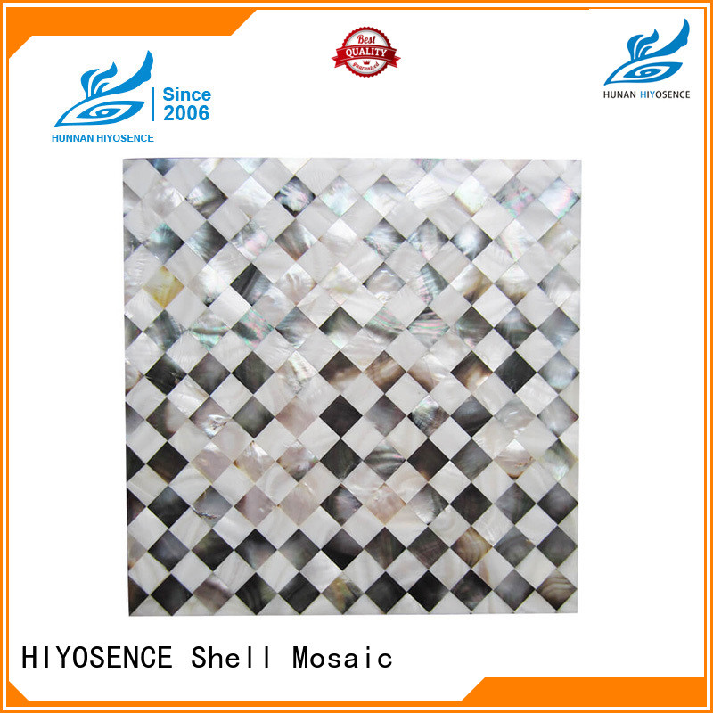 HIYOSENCE mother of pearl shell tile supplier for swimming pool