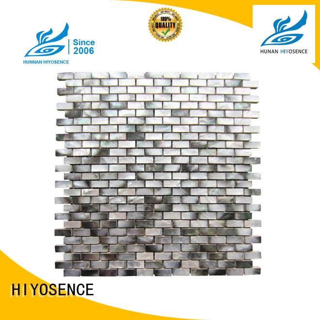 HIYOSENCE pearl white mosaic tiles factory price for swimming pool