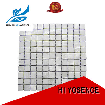 HIYOSENCE high quality white mosaic tile marketing for decoration