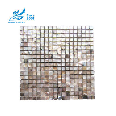 Brown Lip Shell Composite Tile HY1011 15X15X8MM