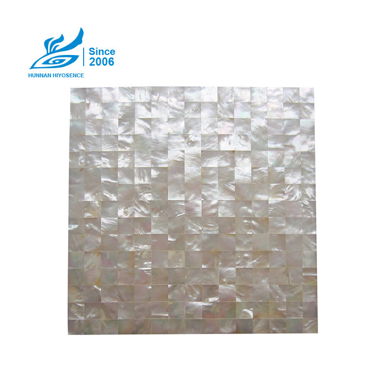 White Lip Shell Panels HY1018P<br>20X20X8MM