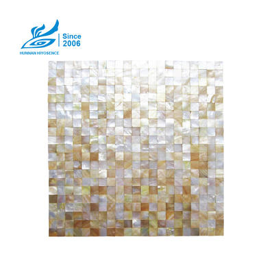 Yellow Lip Shell Mosaic Tiles HY1012W 15X15X2MM