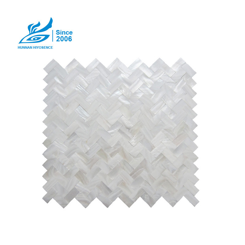 Herringbone Shell Mosaic Tiles HA1036-1037WS 15X30X2MM