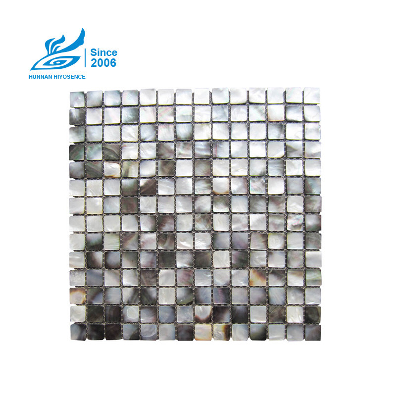 Black Lip Mother Of Pearl Tiles HY1014-20 20X20X2MM