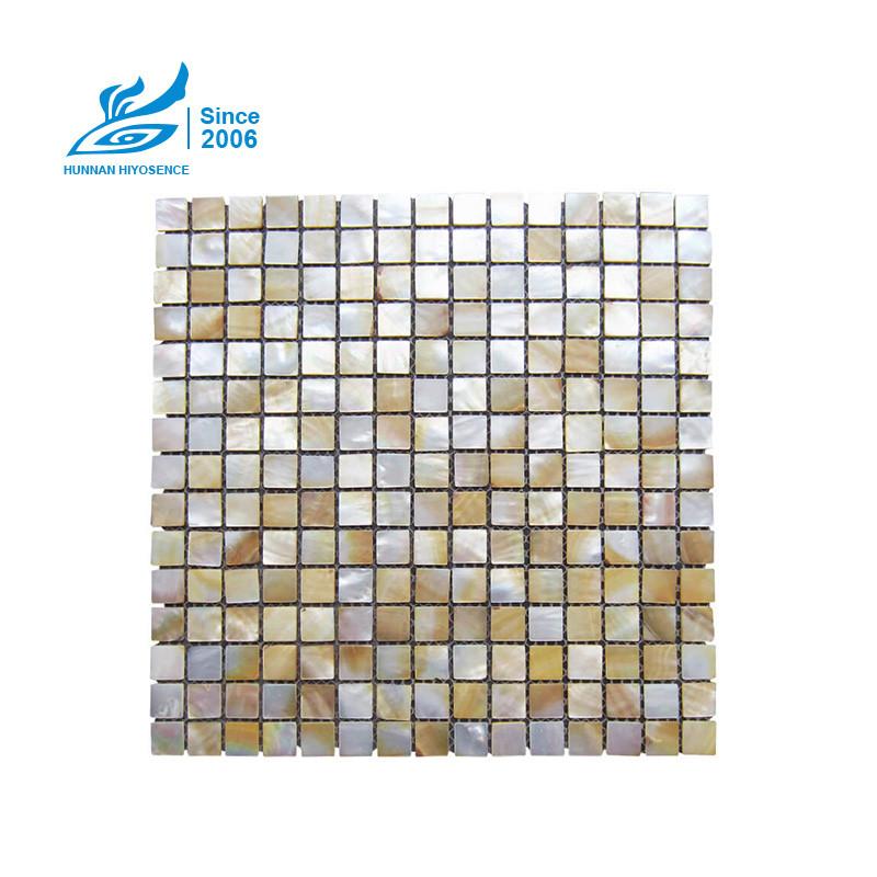 Yellow Lip Shell Mosaic Tiles HY1012 15X15X2MM