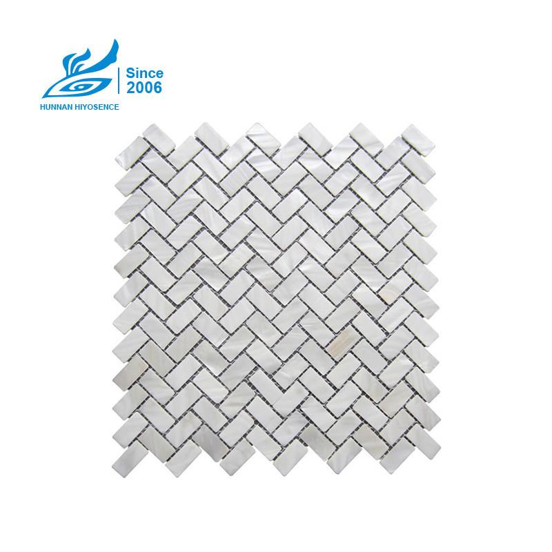 Herringbone Mother Of Pearl Tiles HA1036-1037S 15X30X2MM