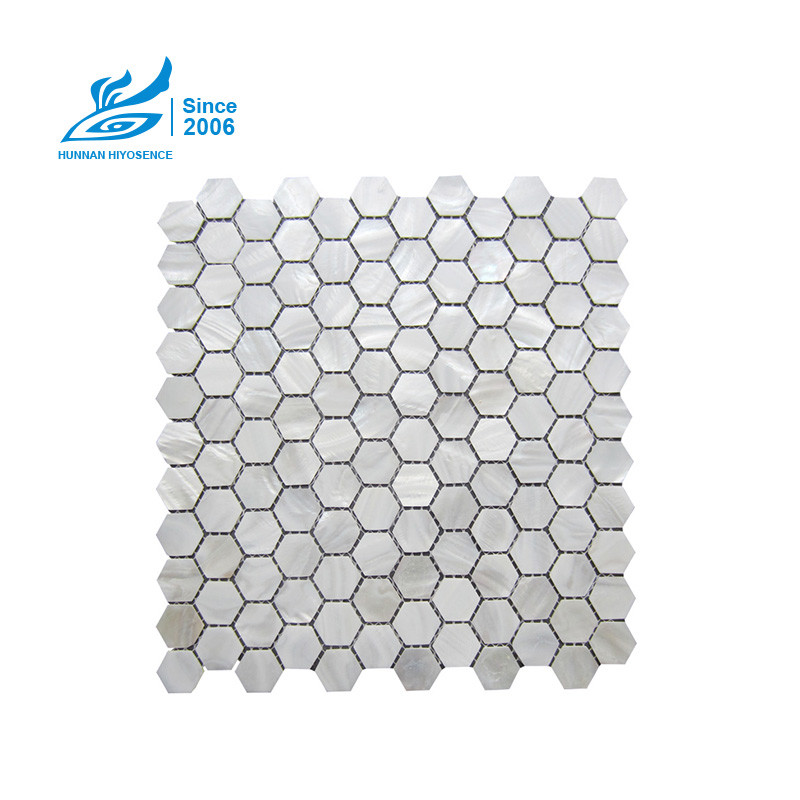 Hexagon Mother Of Pearl Tiles 25HEX001S D=25X2MM