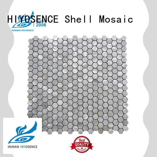 HIYOSENCE inexpensive white mosaic tile marketing for swimming pool