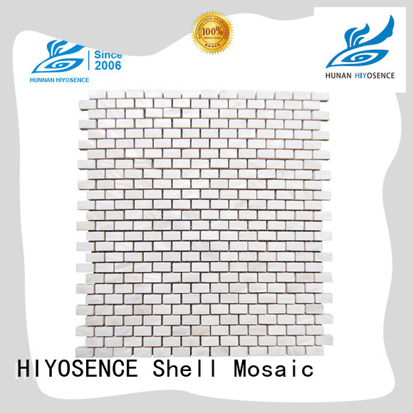 HIYOSENCE advanced technology pearl white mosaic tiles with good price for decoration