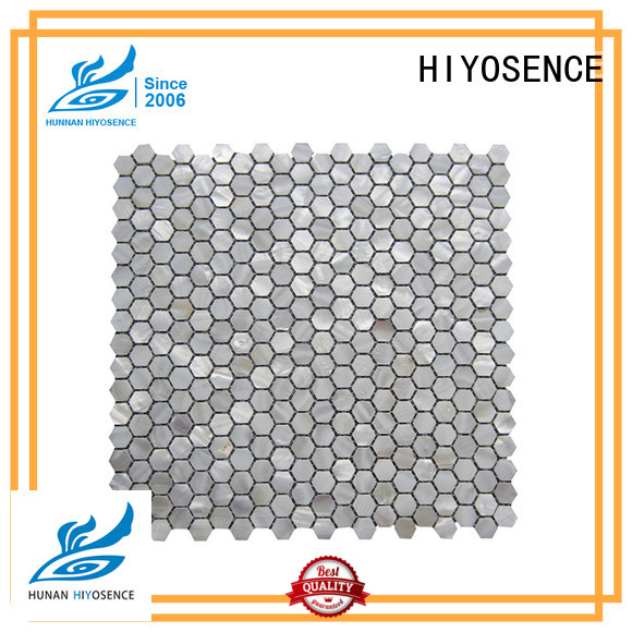 HIYOSENCE natural seashell mosaic overseas market for hotel