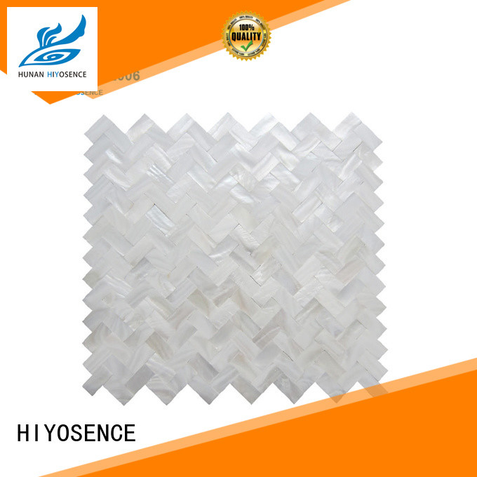 HIYOSENCE high quality Round shell mosaic tile overseas market for living room