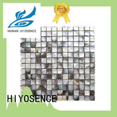 HIYOSENCE mother of pearl herringbone tile marketing for decoration
