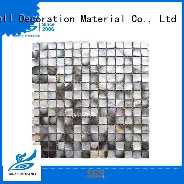HIYOSENCE shell mosaic with joint factory price for hotel