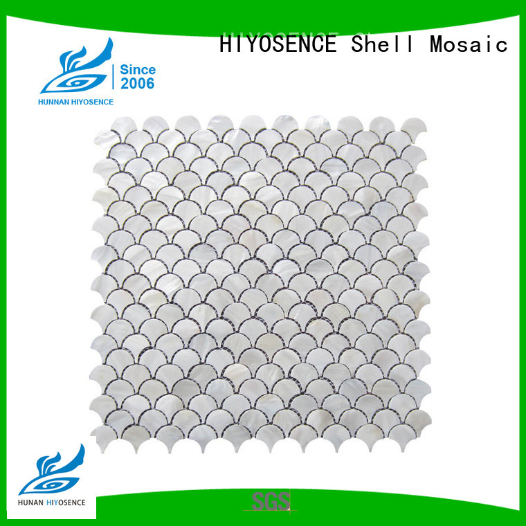 HIYOSENCE high quality mother of pearl wall tiles factory price for living room