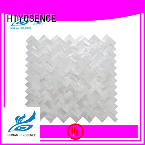 HIYOSENCE white pearl shell tile overseas market for hotel