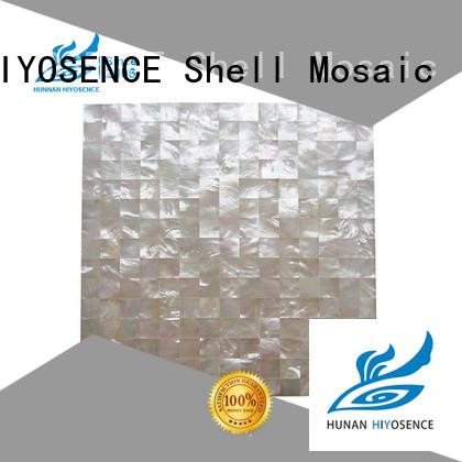 HIYOSENCE mother of pearl shell tile supplier for toilet