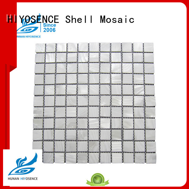 HIYOSENCE widely used shell mosaic with joint factory price for toilet