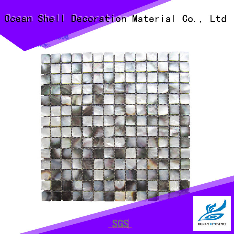 HIYOSENCE widely used shell mosaic with joint factory price for living room