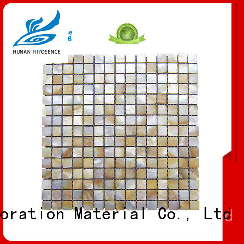 HIYOSENCE luxury pearl shell mosaic tile with good price for toilet