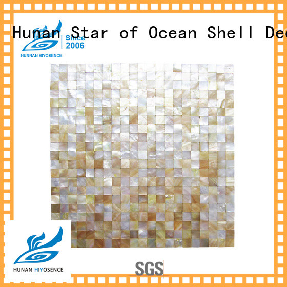 HIYOSENCE mother of pearl penny tile factory price for hotel