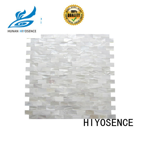 HIYOSENCE durable mother of pearl tile kitchen overseas market for swimming pool