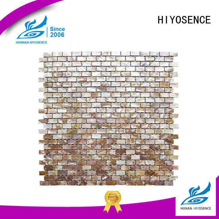 HIYOSENCE shell mosaic with joint with good price for living room