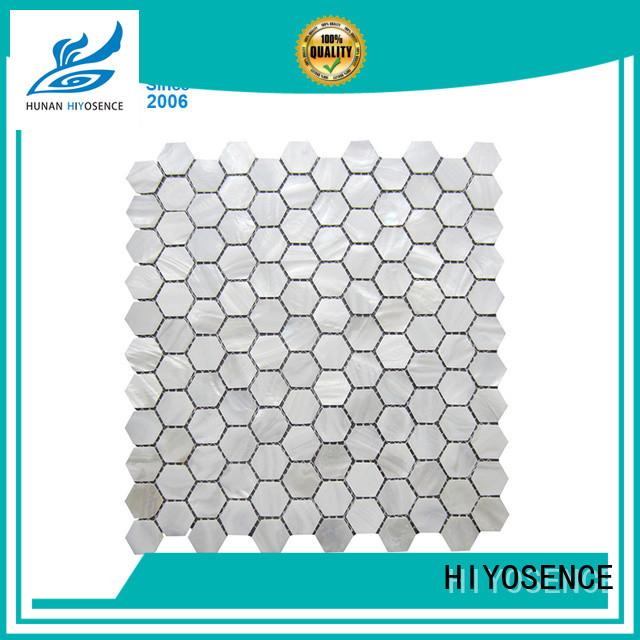 HIYOSENCE widely used marble mosaic tile marketing for decoration