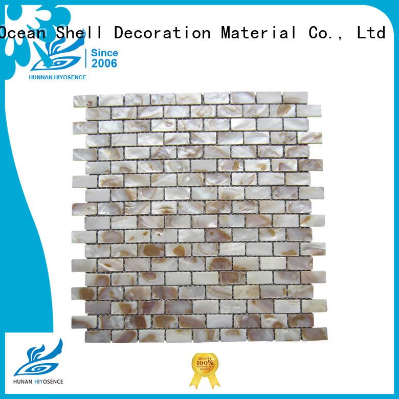HIYOSENCE good quality pearl shell mosaic tiles for living room