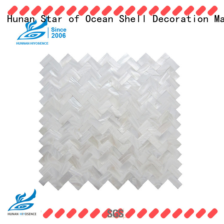 HIYOSENCE inexpensive mother of pearl tile kitchen factory price for decoration