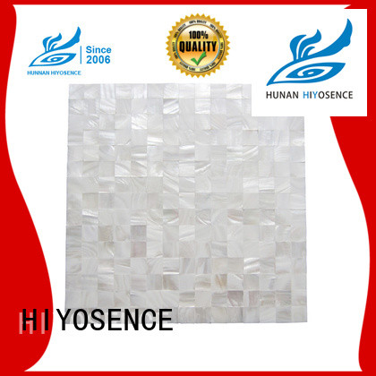 HIYOSENCE natural Round shell mosaic tile with good price for hotel
