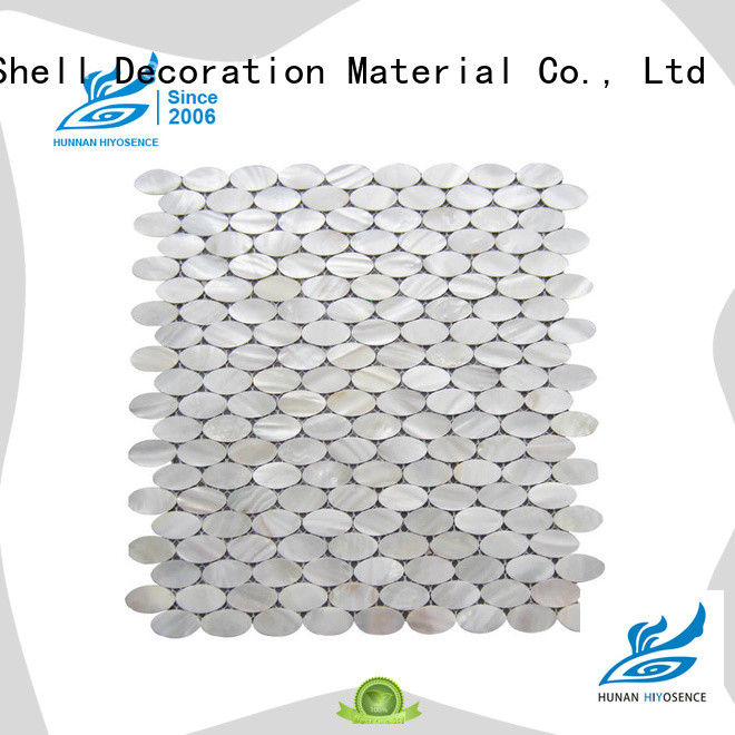 white mother of pearl tile factory price for decoration HIYOSENCE