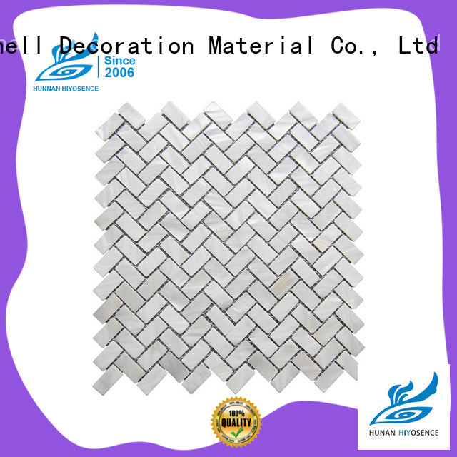 HIYOSENCE mother of pearl herringbone tile with good price for living room