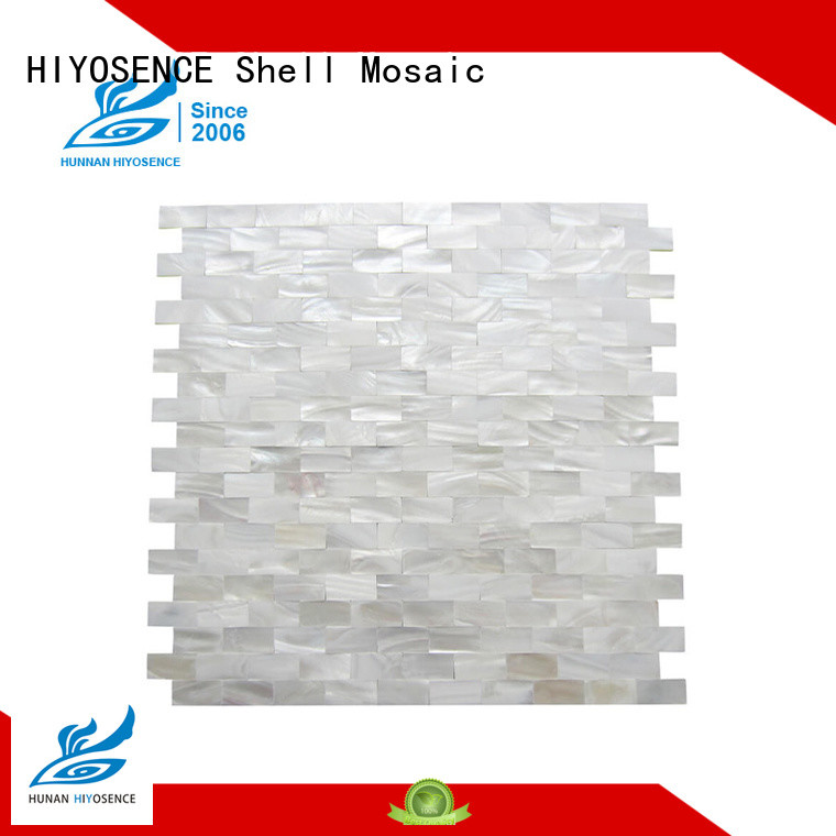 HIYOSENCE affordable price Round shell mosaic tile marketing for hotel