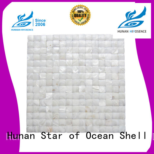 HIYOSENCE fashion design Oval mother of pearl tiles overseas market