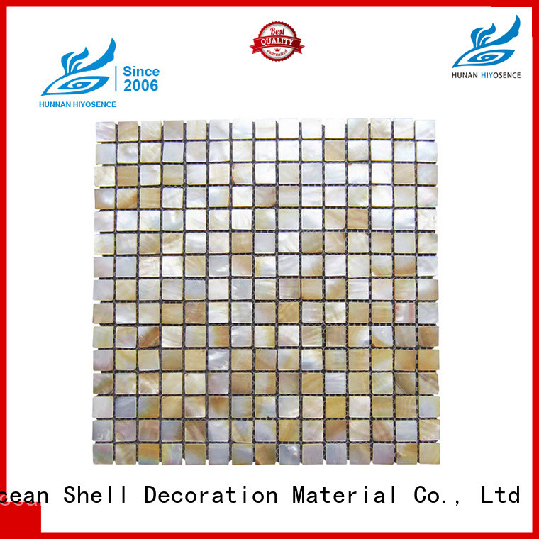 pearl shell mosaic tile factory price for swimming pool HIYOSENCE