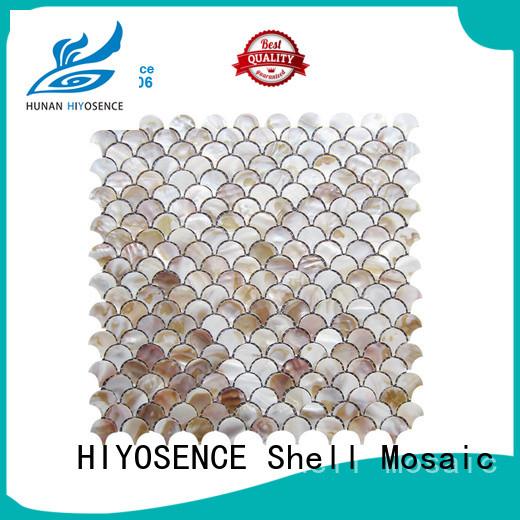 HIYOSENCE white mosaic tile overseas market for toilet