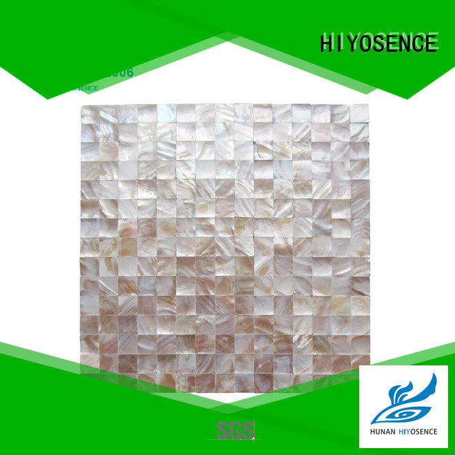 HIYOSENCE stable quality pearl white backsplash tile marketing for living room