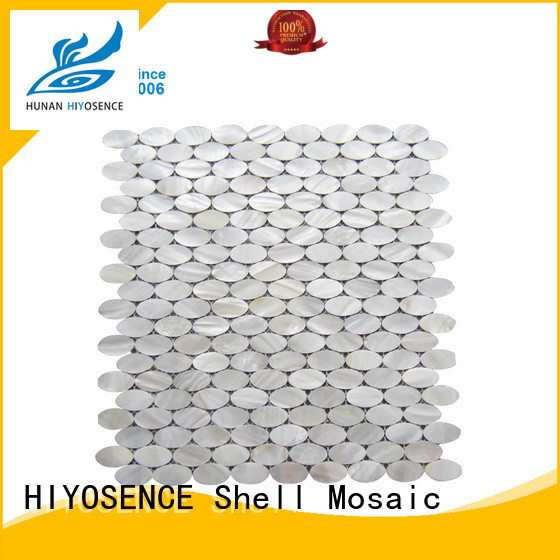 HIYOSENCE natural mother of pearl wall tiles overseas market for toilet