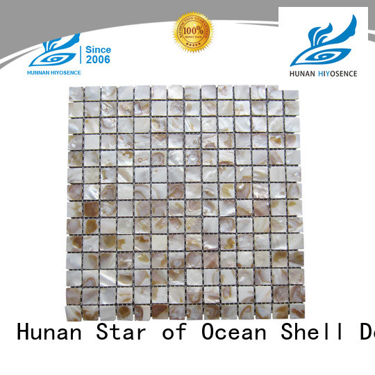 HIYOSENCE durable shell tile marketing for living room