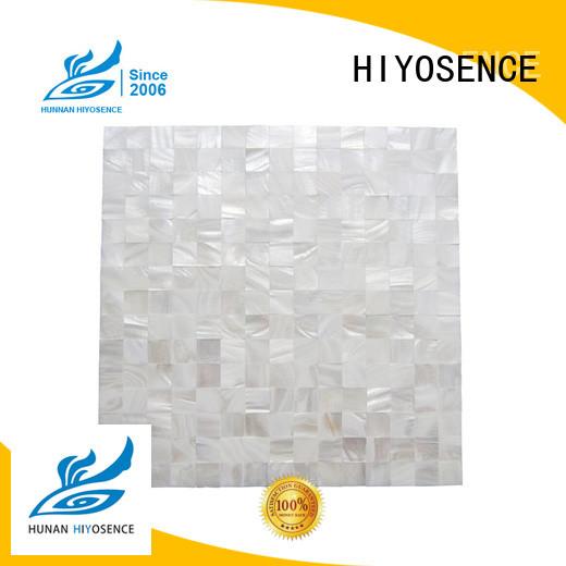 HIYOSENCE fashion design pearl glass mosaic tile factory price for living room