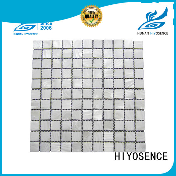 HIYOSENCE natural shell mosaic with joint marketing for swimming pool