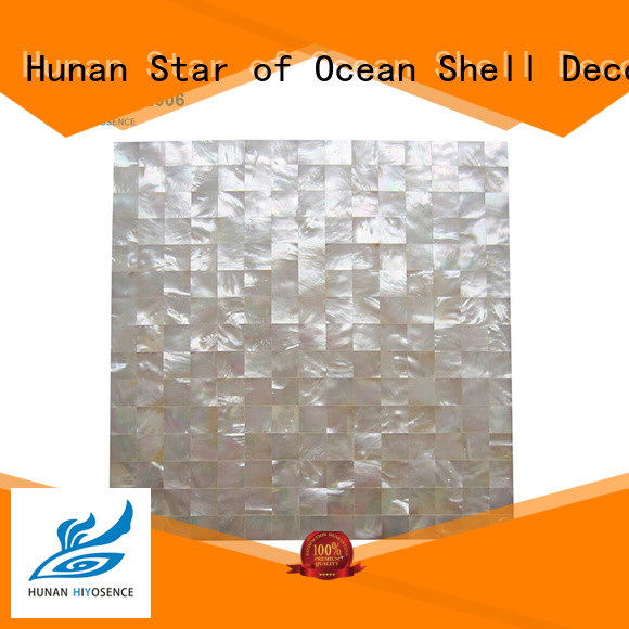 HIYOSENCE mother of pearl shell tile customized for toilet