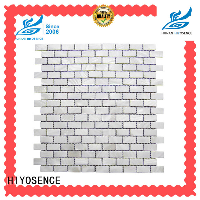 HIYOSENCE white mother of pearl tile with good price for decoration