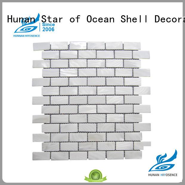 HIYOSENCE white mosaic tile marketing for living room
